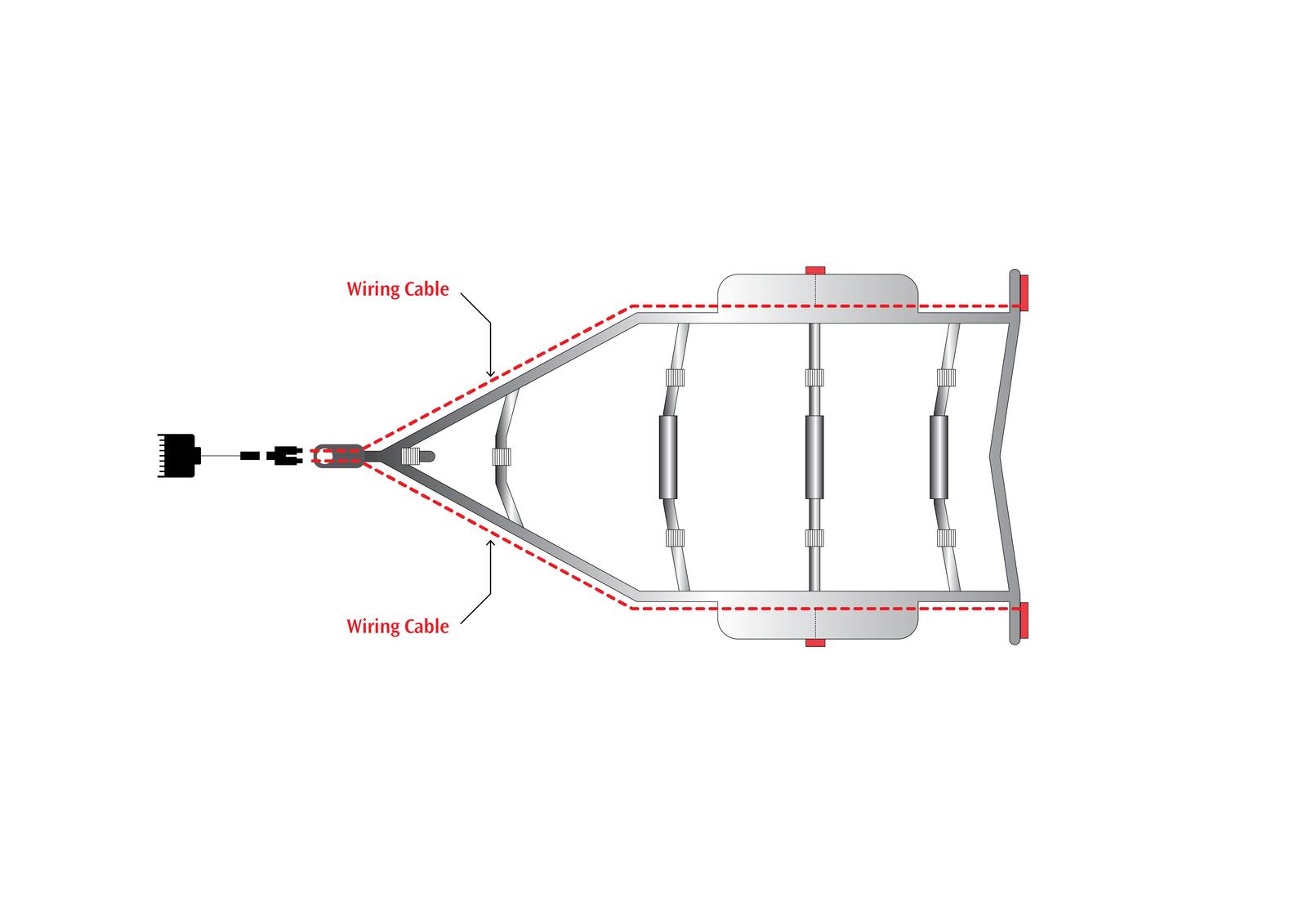 Wiring Kit for Trailer Lights 5.5m