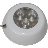 Interior Light LED & Switch 90mm Surface Mnt 12V RWB985