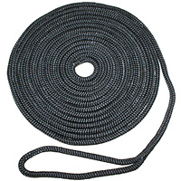 Docklines Black 14mmx 15m Braided Nylon RWB6959
