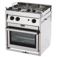 Force 10 - 2 Burner Stove with Oven & Grill - A21 - Stainless Steel - Gimballed